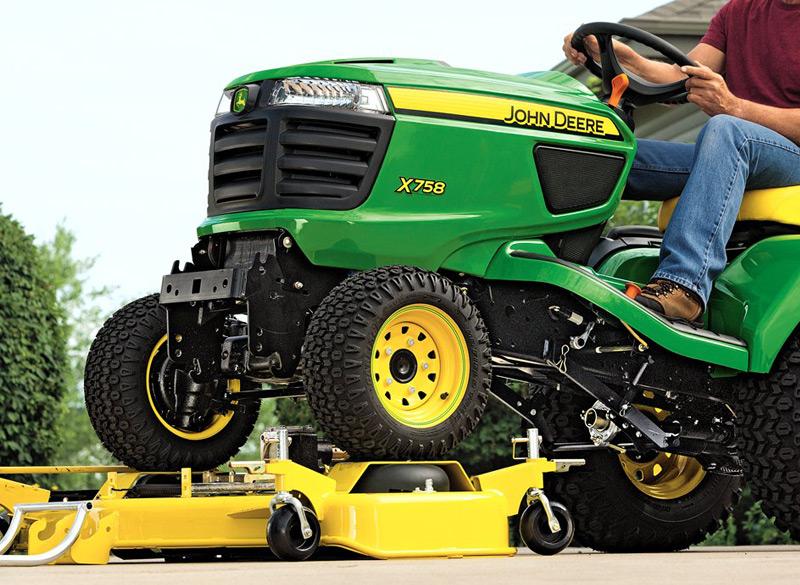 Garden Tractor Without Mower Deck : John deere quot drive over side discharge deck