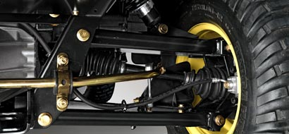 Independent double-wishbone suspension