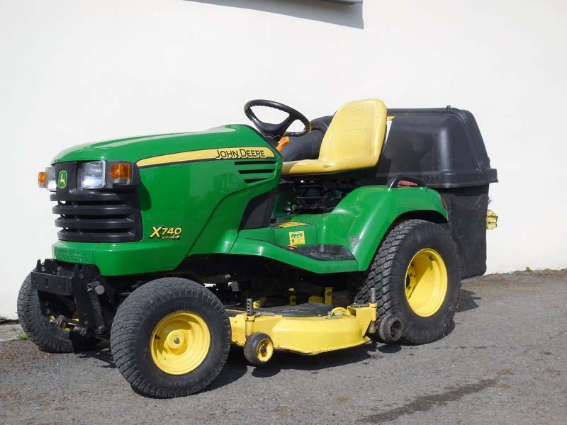 John Deere 740 Tractor : John deere used road registered diesel garden tractor