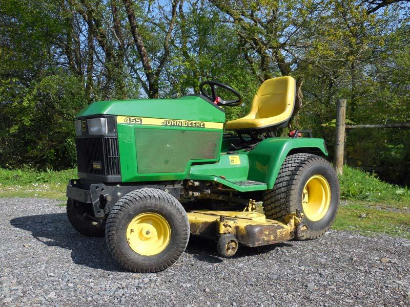 John Deere 455 Mower Parts : Used john deere diesel garden tractor