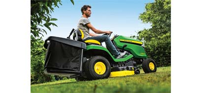 john deere x350r ride on lawn tractor with collector. Black Bedroom Furniture Sets. Home Design Ideas