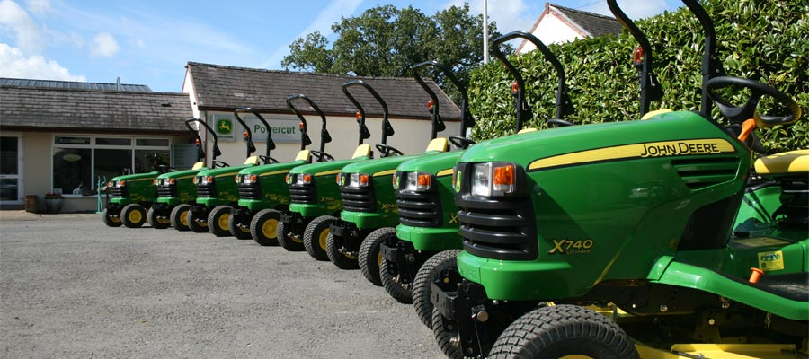 Garden Machinery, Tractors & Ride On Lawnmowers - Lined up outside of the shop