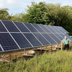 Solar Panels at Powercut Cwmmfrwd, Carmarthen, Carmarthenshire