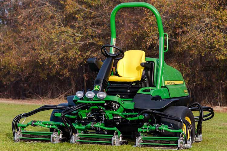 Fairway Mower - John Deere - Golf Course Mowing & Cutting. Photo of operating machinery.
