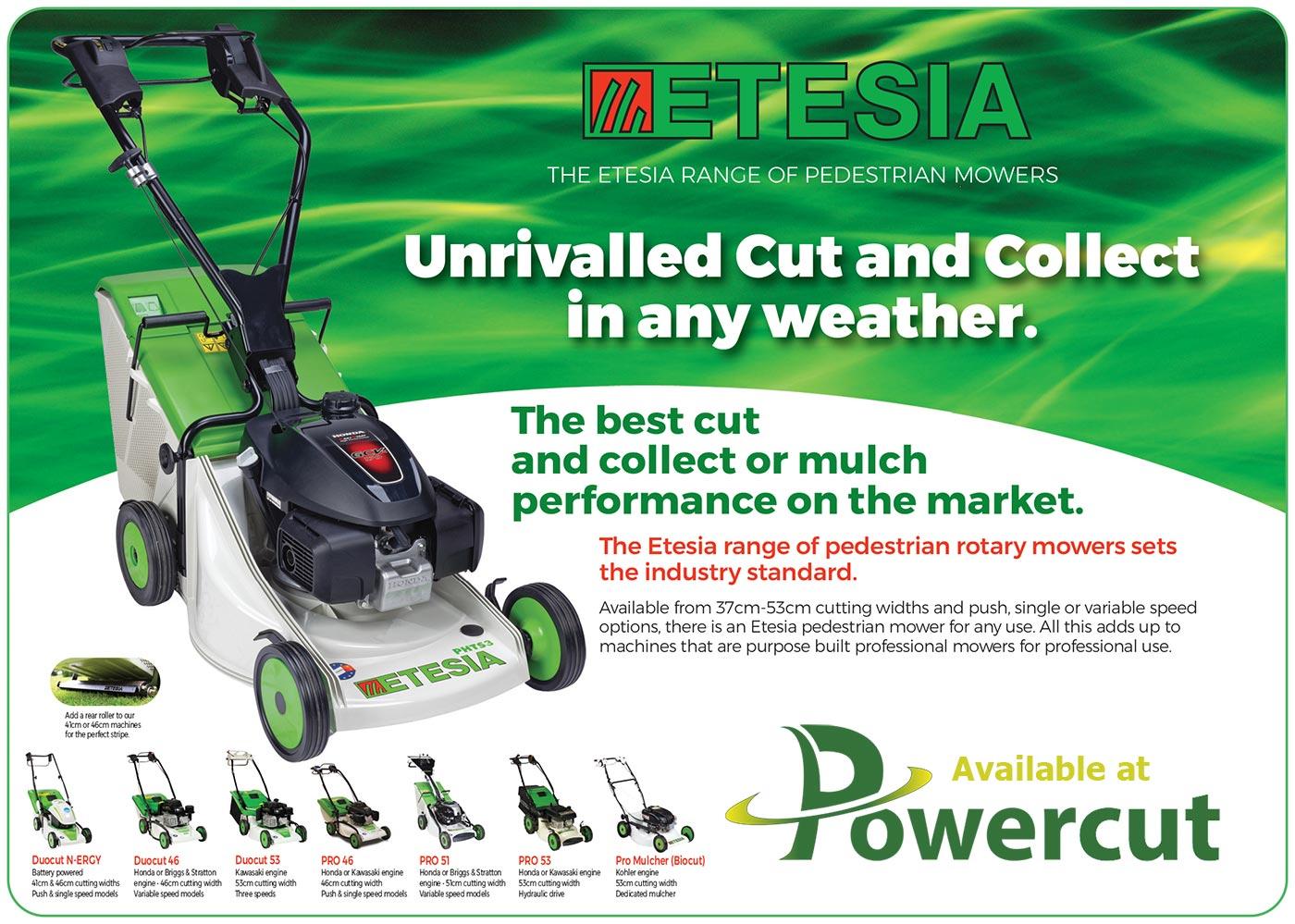 Etesia Walkbehind Lawn Mowers - Product Banner