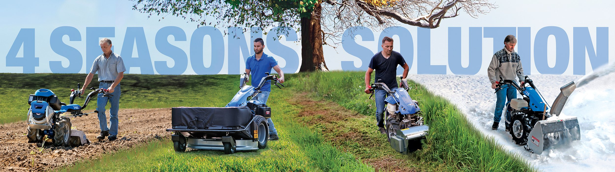 Website banner - Two Wheeled Tractors for all seasons